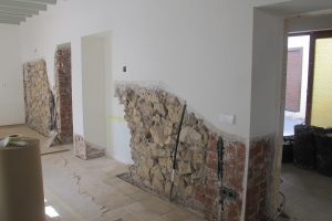 first phase of the damp treatment